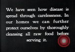 Image of preventing disease and cleansing raw food United States USA, 1922, second 10 stock footage video 65675032295