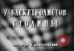 Image of basket ball players practicing Russia, 1947, second 3 stock footage video 65675032355
