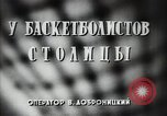 Image of basket ball players practicing Russia, 1947, second 6 stock footage video 65675032355