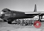 Image of pre-flight inspection of Convair B-36 and crew Fort Worth Texas USA, 1951, second 1 stock footage video 65675032420