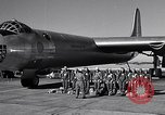 Image of pre-flight inspection of Convair B-36 and crew Fort Worth Texas USA, 1951, second 5 stock footage video 65675032420