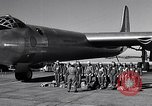 Image of pre-flight inspection of Convair B-36 and crew Fort Worth Texas USA, 1951, second 6 stock footage video 65675032420