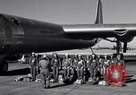Image of pre-flight inspection of Convair B-36 and crew Fort Worth Texas USA, 1951, second 9 stock footage video 65675032420