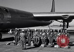 Image of pre-flight inspection of Convair B-36 and crew Fort Worth Texas USA, 1951, second 10 stock footage video 65675032420