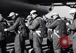 Image of pre-flight inspection of Convair B-36 and crew Fort Worth Texas USA, 1951, second 11 stock footage video 65675032420