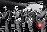 Image of pre-flight inspection of Convair B-36 and crew Fort Worth Texas USA, 1951, second 12 stock footage video 65675032420