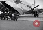 Image of Airmen boarding C-124A Globemaster Roswell New Mexico USA, 1953, second 5 stock footage video 65675032424