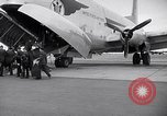 Image of Airmen boarding C-124A Globemaster Roswell New Mexico USA, 1953, second 6 stock footage video 65675032424
