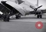 Image of Airmen boarding C-124A Globemaster Roswell New Mexico USA, 1953, second 7 stock footage video 65675032424