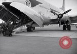 Image of Airmen boarding C-124A Globemaster Roswell New Mexico USA, 1953, second 8 stock footage video 65675032424