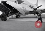 Image of Airmen boarding C-124A Globemaster Roswell New Mexico USA, 1953, second 9 stock footage video 65675032424