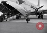 Image of Airmen boarding C-124A Globemaster Roswell New Mexico USA, 1953, second 11 stock footage video 65675032424