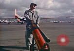 Image of Fire guard for aircraft engine start Honolulu Hawaii USA, 1959, second 3 stock footage video 65675032481