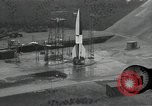 Image of slow motion A-4 Missile launch Peenemunde Rocket Centre Ostvorpommern Germany, 1942, second 2 stock footage video 65675032508