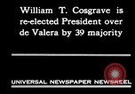 Image of William T Cosgrave Ireland, 1930, second 4 stock footage video 65675032517