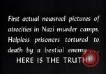 Image of Nazi concentration camp atrocities Germany, 1945, second 10 stock footage video 65675032522