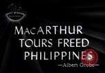 Image of General Douglas Mac Arthur visits liberated Mindoro Island Mindoro Philippines, 1945, second 5 stock footage video 65675032529