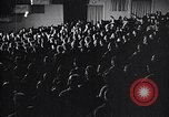 Image of United Nations delegates watch German surrender film San Francisco California USA, 1945, second 8 stock footage video 65675032538