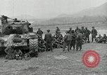 Image of U.S. tanks and 3rd infantry in Korean War Korea, 1951, second 10 stock footage video 65675032631