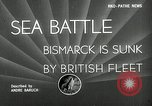 Image of Sinking of the Bismarck Saint-Nazaire France, 1941, second 2 stock footage video 65675032706