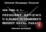 Image of Armada parade New York City USA, 1934, second 7 stock footage video 65675032719