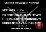 Image of Armada parade New York City USA, 1934, second 11 stock footage video 65675032719