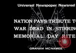 Image of Memorial Day United States USA, 1934, second 7 stock footage video 65675032723