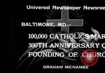 Image of Catholics Baltimore Maryland USA, 1934, second 2 stock footage video 65675032724