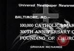 Image of Catholics Baltimore Maryland USA, 1934, second 3 stock footage video 65675032724