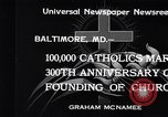 Image of Catholics Baltimore Maryland USA, 1934, second 4 stock footage video 65675032724