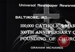 Image of Catholics Baltimore Maryland USA, 1934, second 5 stock footage video 65675032724