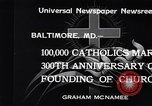 Image of Catholics Baltimore Maryland USA, 1934, second 11 stock footage video 65675032724