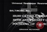 Image of Catholics Baltimore Maryland USA, 1934, second 12 stock footage video 65675032724