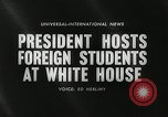Image of John F Kennedy Washington DC White House USA, 1961, second 4 stock footage video 65675032757