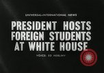 Image of John F Kennedy Washington DC White House USA, 1961, second 5 stock footage video 65675032757