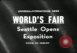 Image of Worlds Fair opening ceremony Seattle Washington USA, 1962, second 1 stock footage video 65675032765