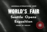 Image of Worlds Fair opening ceremony Seattle Washington USA, 1962, second 5 stock footage video 65675032765