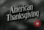 Image of American Thanksgiving United States USA, 1954, second 7 stock footage video 65675032785