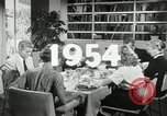 Image of 1950's American family Thanksgiving United States USA, 1954, second 4 stock footage video 65675032791