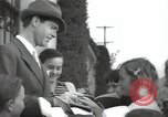 Image of Hollywood Actor give autographs Los Angeles California USA, 1936, second 4 stock footage video 65675032817