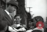 Image of Hollywood Actor give autographs Los Angeles California USA, 1936, second 6 stock footage video 65675032817