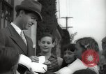 Image of Hollywood Actor give autographs Los Angeles California USA, 1936, second 8 stock footage video 65675032817