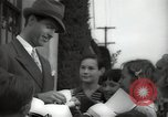 Image of Hollywood Actor give autographs Los Angeles California USA, 1936, second 10 stock footage video 65675032817