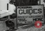 Image of Tour service for Hollywood stars homes Hollywood California USA, 1936, second 8 stock footage video 65675032819