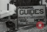Image of Tour service for Hollywood stars homes Hollywood California USA, 1936, second 9 stock footage video 65675032819