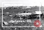 Image of wreckage Delavan Illinois USA, 1938, second 1 stock footage video 65675032874