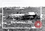 Image of wreckage Delavan Illinois USA, 1938, second 2 stock footage video 65675032874