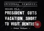 Image of Franklin D Roosevelt Miami Florida USA, 1937, second 3 stock footage video 65675032892