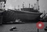 Image of cargo vessel Long Beach California USA, 1941, second 4 stock footage video 65675032898