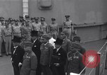 Image of peace treaty Tokyo Bay Japan, 1945, second 1 stock footage video 65675032942